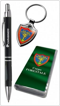 Set Penna + Portachiavi con Astuccio Legato Carabinieri Forestale Prodotto Ufficiale Idea Regalo Congedo Pensione Art. 10674