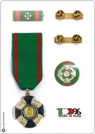 Set Medaglie + Nastrino Bombato + Pins Cavaliere Ufficiale Della Repubblica Idea Regalo Art.NSD-SET-C