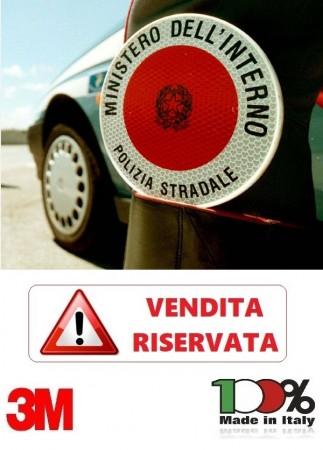 Adesivo Per Paletta Rosso Ministero Dell'Interno Polizia STRADALE VENDITA RISERVATA Art.R-PS-S