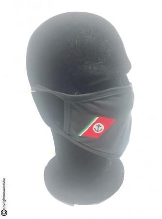 Mascherina Protettiva Modello Adulto con Ricamo Guardia Costiera Nuovo Lavabile Art. NSD-GCX