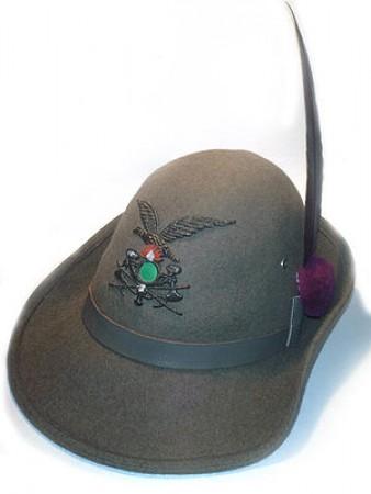 Cappello Alpino Truppa Completo Con Fregio Ricamato e Penna Art.TUS-ALP 8767b7edf211