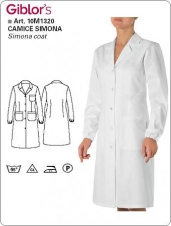 Camice Dottoressa Farmacista Simona Donna Studentessa Laboratorio Bianco Giblor's Art. 10M1320