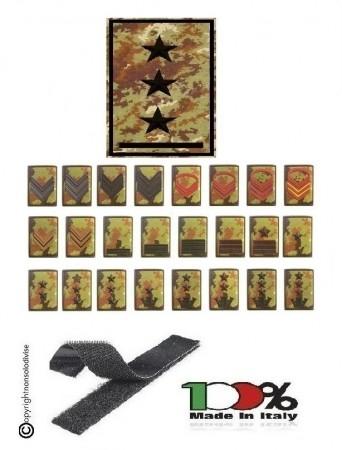 Gradi Tubolarini o Velcro Vegetati o Verdi Esercito Italiano Scegli il Tuo Grado OFFERTA INGROSSO Art.TUB-OFF