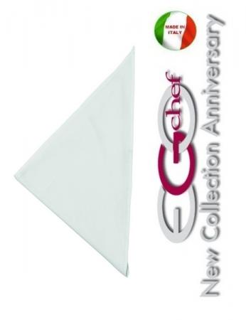 Fazzoletto Collo Cuoco Chef White Ego Chef Italia Art.690001
