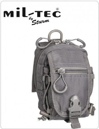 Tasca da Cintura e Cinturone Grigia Sistema MOLLE MILTEC® HEXTAC® Guardia di Finanza Venatoria Forestale Federcaccia Art.13485008