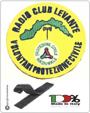 Patch Toppa Ricamata con Velcro RADIO CLUB LEVANTE Volontariato di Protezione Civile  cm 8 Art.NSD-LEVANTE