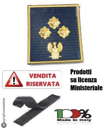 Gradi Plastificati Nuovo Modello 2019 Polo Giacca Giubbino Polizia di Stato PS con Velcro Commissario Art.V-PS-9