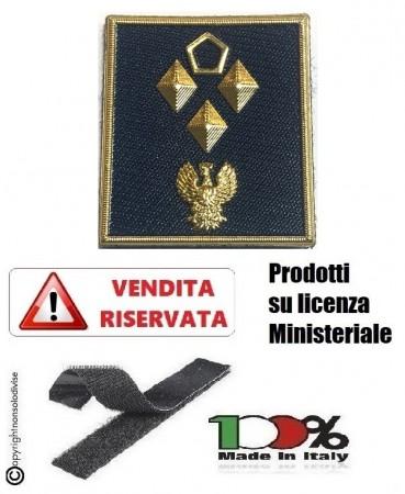 Gradi Plastificati Nuovo Modello 2019 Polo Giacca Giubbino Polizia di Stato PS con Velcro Sovraintendente Capo Coordinatore Art.V-PS-16