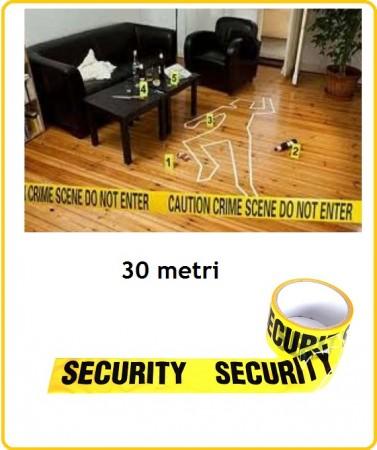 Nastro Security Zone Zone Tape Security Metri 30 Emergenza Siurezza Vigilanza Art.469362