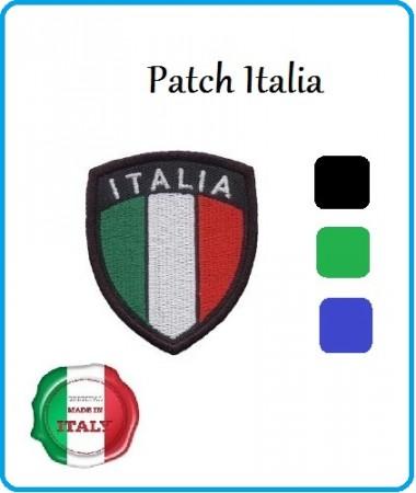 Scudetto Patch Ricamato Italia - Blu Verde Nero - con Velcro Art.NDD-ITALIA
