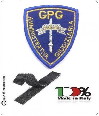 Patch Toppa Scudetto Ricamato con Velcro GPG Amministrativa Giudiziaria Art.NSD-2020