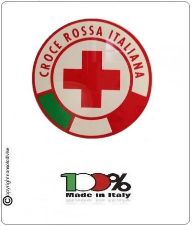 Vetrofania CRI Croce Rossa Italiana Made in Italy Art.VET-1