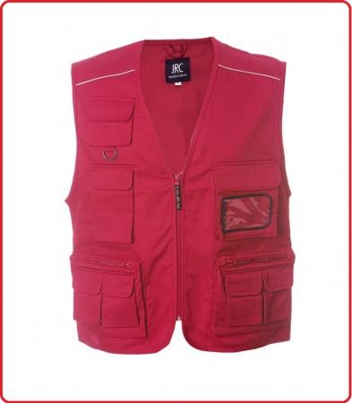 Gilet New Safari Rosso Croce Rossa Soccorso Sanitario 118 Art.987532