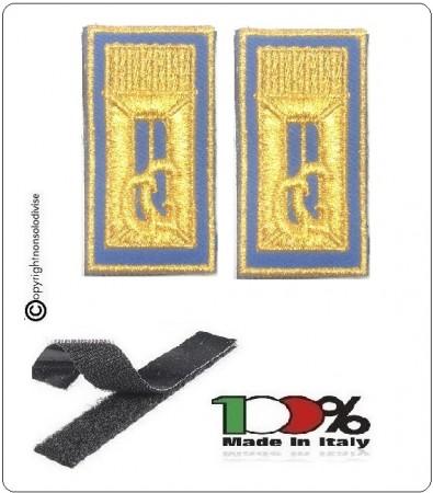 Alamari Ricamati con Velcro Blu Per Polo o Camicia e Tuta Operativa Polizia Locale Vigilanza Security Art.NSD-ALA-G