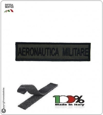 Patch Toppa Ricamata con Velcro Aeronautica Militare da Uniforme VERDE Art.AM-V