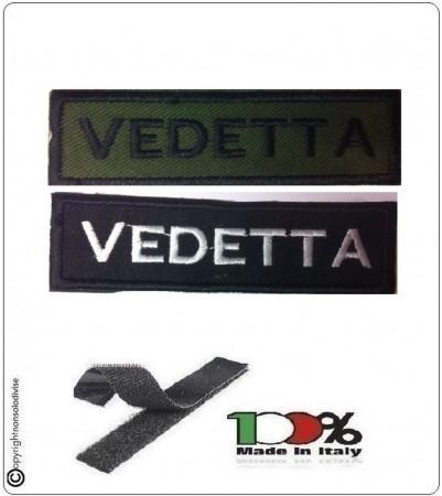 Patch Toppa Lineare Ricamata con Velcro Vedetta Art.NSD-R14