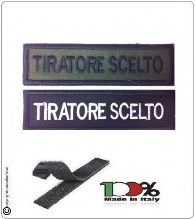 Patch Toppa Lineare Ricamata con Velcro Tiratore Scelto  Art.NSD-R3