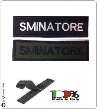 Patch Toppa Lineare Ricamata con Velcro Sminatore Art.NSD-R13