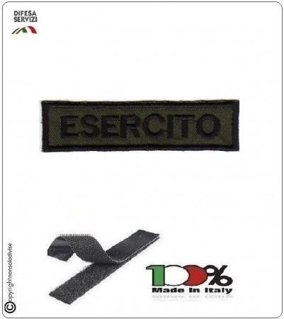 Patch Toppa Ricamata con Velcro Esercito da Uniforme VERDE OD Art.EI-T3