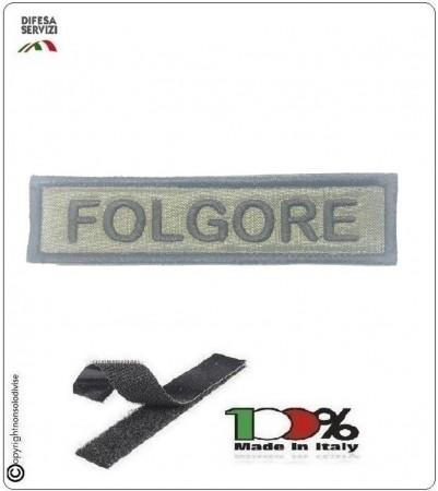 Patch Toppa Ricamata con Velcro Folgore da Uniforme Verde OD Art.F-T1