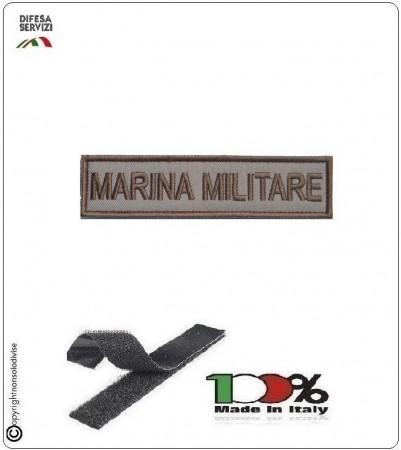 Patch Toppa Ricamata con Velcro Marina Militare  da Uniforme Sabbia  Art.MM-T2