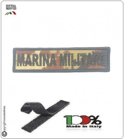 Patch Toppa Ricamata con Velcro Marina Militare  da Uniforme Vegetata Art.MM-T3