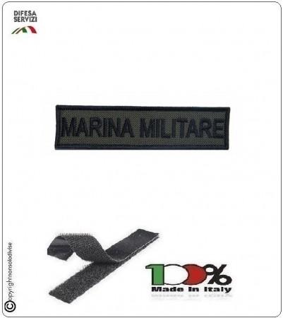 Patch Toppa Ricamata con Velcro Marina Militare  da Uniforme VERDE OD Art.MM-T1