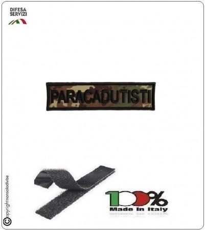 Patch Toppa Ricamata con Velcro Paracadutisti  da Uniforme Vegetata Art.P-T1