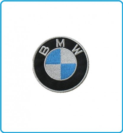 Patch Toppa Ricamata Termoadesivo BMW Motorrad cm 6.00 Art.BMW-4