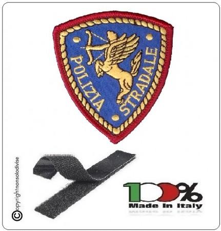 Toppa Ricamo Patch Polizia Stradale Ricamata con Velcro Art.EU1097