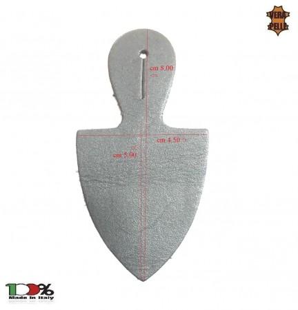 Pendif in Vera Pelle Porta Distintivi e Medaglie Carabinieri Polizia Vigilanza Modello Scudo Art. NSD-SC