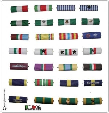 Nastrini Militari e Civili Componi il Tuo Medagliere Prodotto Italiano Bombato Art.NAS-1
