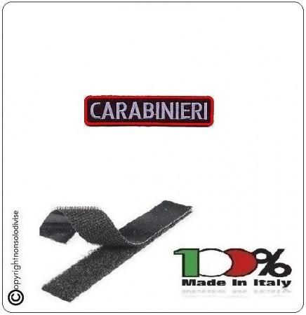 Patch Toppa Ricamata con Velcro Carabinieri Rettangolare 12x3 cm Art.EU043