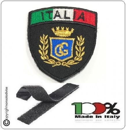 Patch Scudetto con Velcro Guardie Giurate Logo Nero + Bandiera Art.GPG-IT
