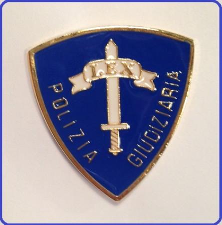 distintivo da petto polizia giudiziaria blu artnsdpg