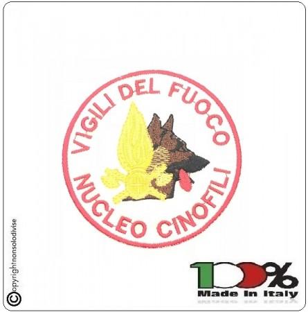 Patch Toppa Ricamata con Velcro Vigili Del Fuoco Nucleo Cinofili  Art.NSD-VVAAC