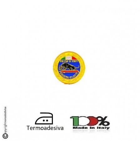 Patch Toppa Ricamata Termoadesiva  Polizia di Stato Squadra Volante cm 9.00 Art. EU052