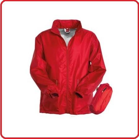 K-way Rosso con Cappuccio a Scomparsa WIND  118 Soccorso Croce Rossa Italiana Payper Piccolo Spazio Grande Tenuta Art.0000171