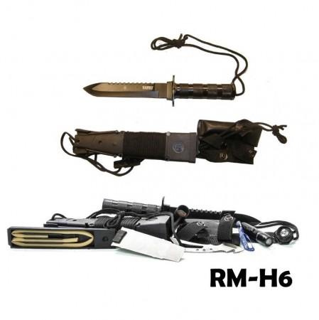 Coltello Sopravvivenza Lama 18 cm Rambo Tactical Series kit Sopravvivenza Art. RM-H6