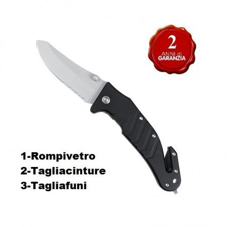 Coltello Intervento Nero Mil-Tec 118 CRI Soccorritori Vigili del Fuoco Protezione Civile Art.15321002