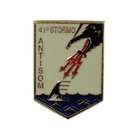 Distintivo Spilla da Camicia o Giacca Aeronautica Militare 41° Stormo ANTISOM Prodotto Ufficiale Art. AM0160P41ST