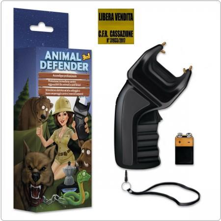 ANIMAL DEFENDER 3in1 Dissuasore + Stimolatore x Animali + Accendigas Libera Vendita Art. 98100