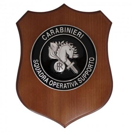Crest Quadretto Carabinieri Squadra operativa Supporto  Ufficiale Italiano Giemme Art. CC01PSQOPSU