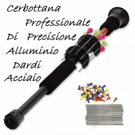 Cerbottana di Precisione Alluminio con Dardi Accaio  Art.MK 100/30