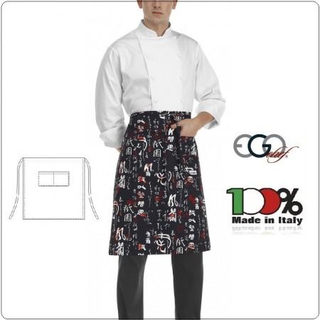 Grembiule Falda Vita Con Tascone Jap cm 70x70 Ego Chef Italia Art.6101119A