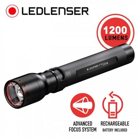 Torcia Professionale  i17R Industrial Rechargeable Flashlight Led Lenser® 1200 Lumen P17R CORE Evoluzione i17R Carabinieri Polizia Sicurezza Art. 502193