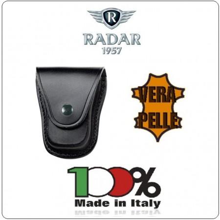 Porta Manette Chiuso in Cuoio a Cofanetto Radar 1957 Italia Polizia Carabinieri Vigilanza Art.4086/5000