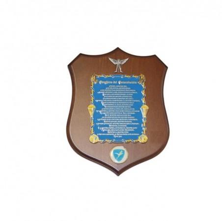 Crest Quadretto Preghiera del Paracadutista Parà Folgore Esercito Italiano Prodotto Ufficiale Giemme cm 17x22 Art. EI3151