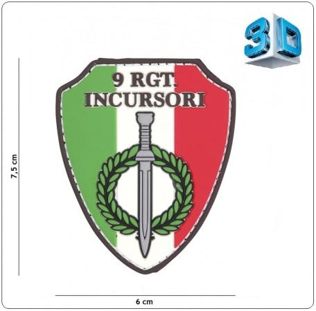 Toppa Patch Scudetto 3D con Velcro Arditi Incursori Carabinieri 9°RGT cm 7.6x8.00 INC101 Art.444130-5382