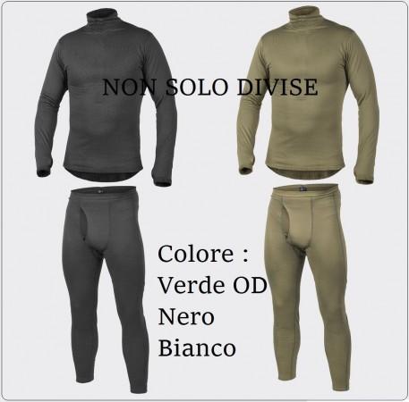 Completo Intimo Termico Traspirante Militare Maglia + Pantaloni Nero Verde Bianco FOSTEX Art.114270